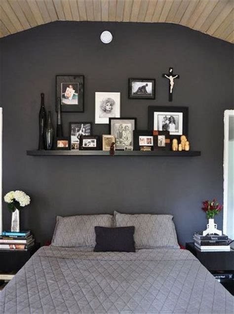 Grey Bedroom Shelves Suggestions For Painting A Bedroom Wall Black