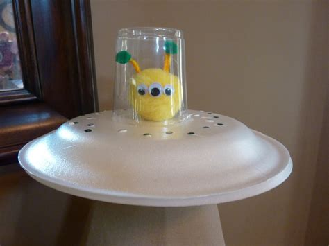 paper plate ufo fun family crafts