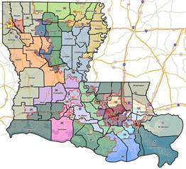 senate districts map redistricting part v louisiana senate jmc