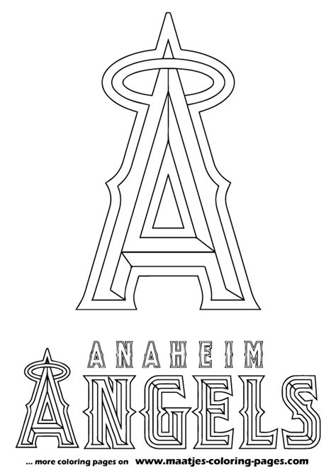 angels baseball coloring page los angeles angels free colouring pages