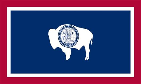 free state flag of wyoming coloring pages