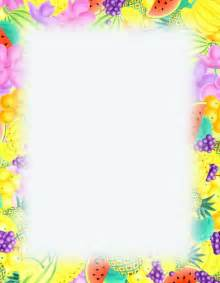 6 best images of free printable summer stationary borders