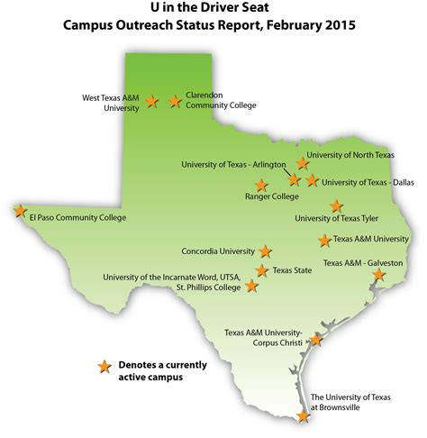 map of texas colleges u in the driver seat holds symposium at ut arlington texas a m transportation institute
