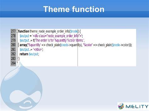 theme drupal function drupal module development