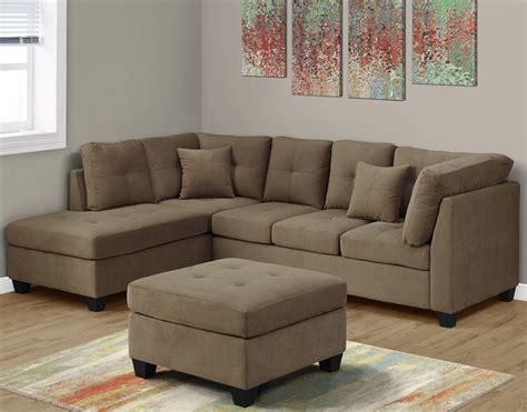 light brown sectional sofa ultra soft light brown velvet sectional sofa 8375lb monarch