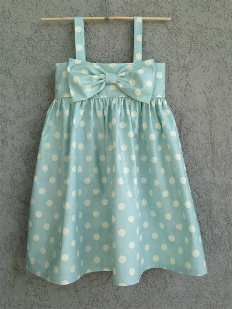 Baby Dress Polkadot light blue polka dot baby toddler dress easter by dreamcatcherbaby