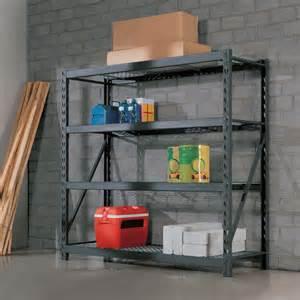 garage shelves costco costco uk whalen 4 tier 77 quot 195cm industrial storage rack