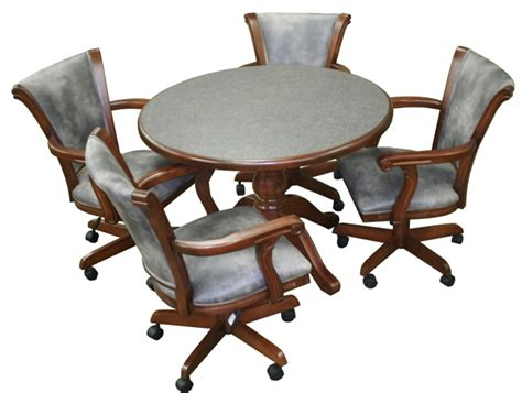 Dining Room Chairs With Casters Chromcraft Furniture Kitchen Chair With Wheels Wow