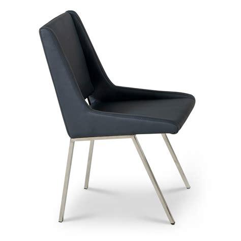 Dining Chair Blue Fiore Modern Square Dining Chair Midinight Blue Zuri Furniture