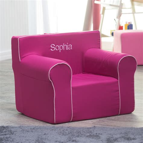 Personalized Toddler Chairs by Here And There Personalized Chair Fuchsia Canvas