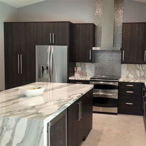 Marble As A Countertop Kitchen Features Dramatic Calacattaborghini Marble