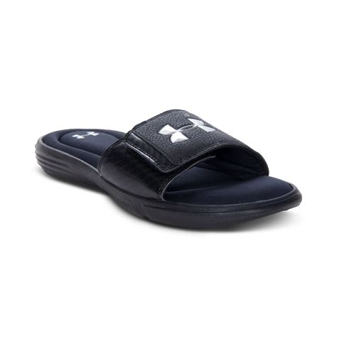 armor slippers lyst armour ignite iii slide sandals in blue for