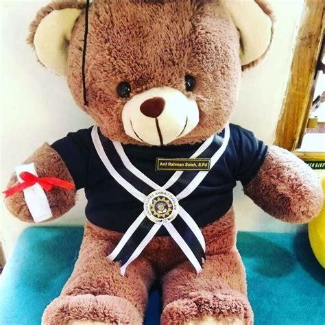 Boneka Wisuda Teddy Jumbo jual hadiah boneka teddy jumbo cokelat murah kado