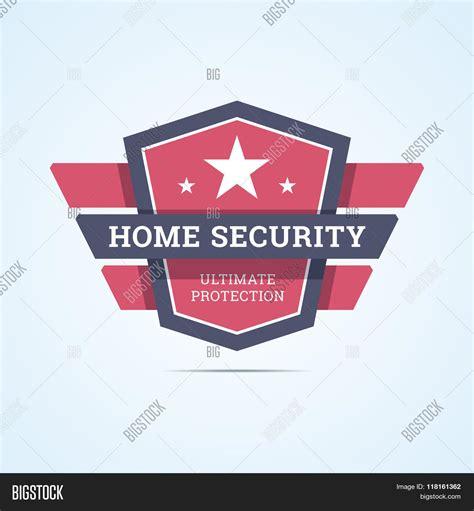 home security badge vector photo bigstock