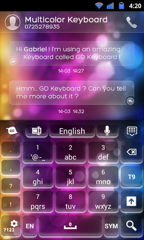 go keyboard themes music go keyboard multicolor theme android apps on google play