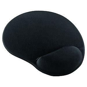 Mouse Pad Dengan Bantalan Gel Black mouse pad with wrist rest gel black