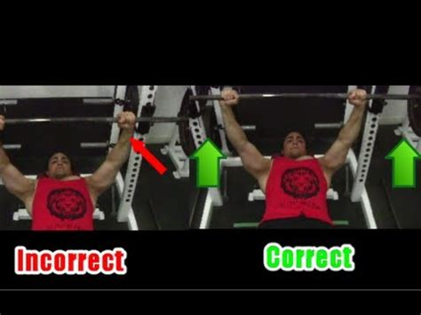 bench press shoulder pain 1 bench press tip for triceps fixing shoulder pain seperating the bar youtube