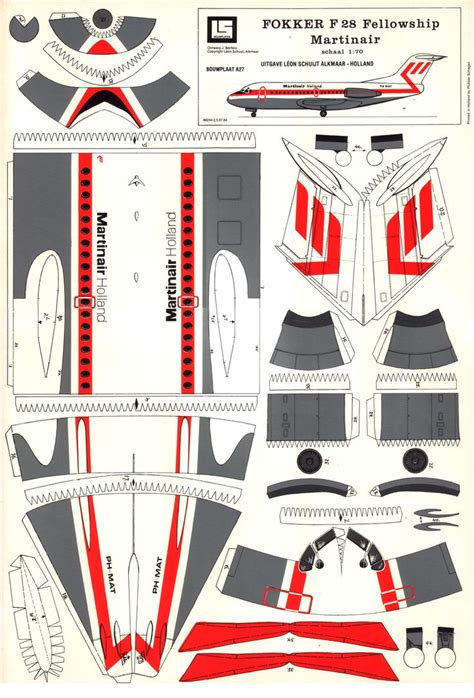 Paper Models To Make - f 28 01 papercrafts aircraft