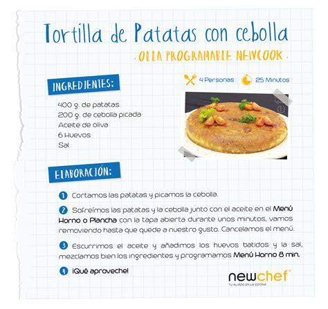 recetas de cocina tortilla de patatas tortilla de patatas con olla programable newcook blog