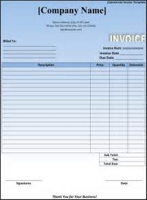 download commercial invoice template for free formtemplate