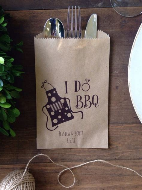couples bridal shower favors i do bbq couples shower favor silverware holder bag wedding