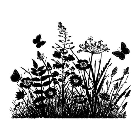 silhouette tattoo paper uk crafty individuals ci 367 wild flowers and butterflies