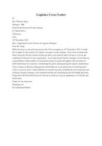logistics cover letter template hashdoc