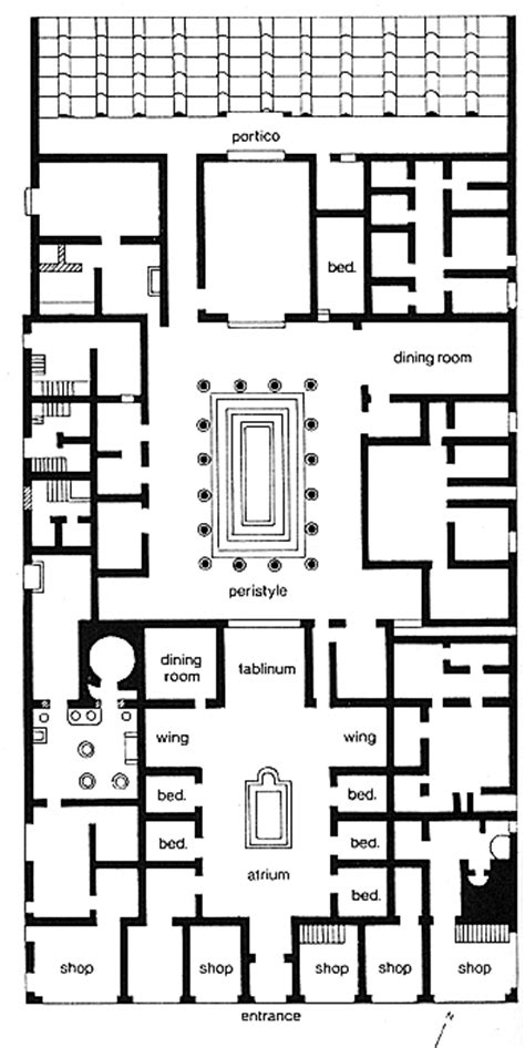 Pompeii House Plan Pompeii Houses Plan House Plans