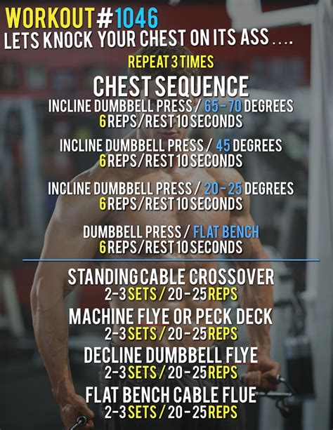 workout 1046 killer chest workout bad daily
