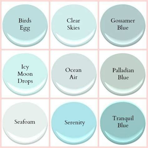 benjamin seafoam coastal paint colors