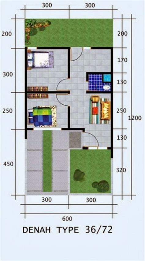 model desain denah rumah minimalis sederhana type 36 denah rumah sederhana minimalis type 36 1 lantai rumah