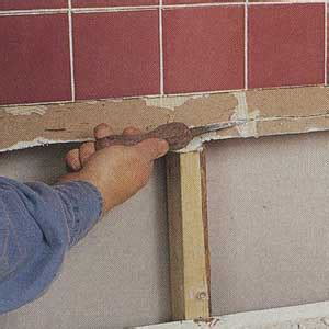 Repair Bathroom Wall Water Damage by How To Repair A Water Damaged Shower Wall