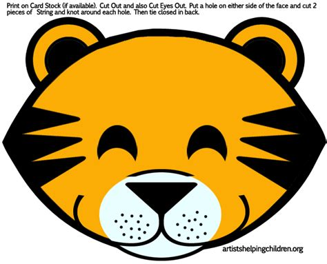 How To Make A Tiger Mask Out Of Paper - tigers masks printables png 616 215 498 pixels school ideas