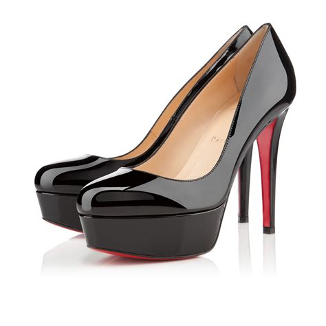 Christian Louboutin 120 black patent leather shoes christian louboutin