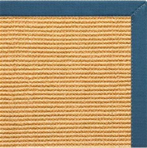 sisal rug with blue border sisal rug w paradise blue cotton border