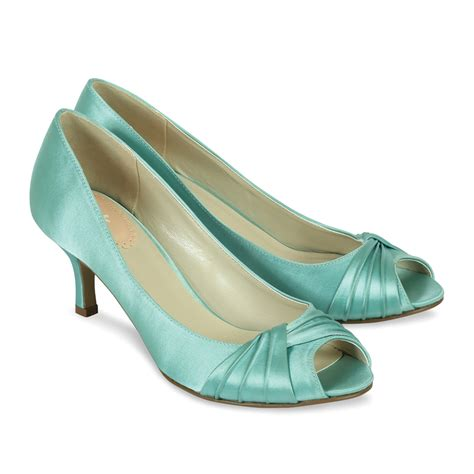 wedding shoes green pink paradox mint green satin shoes wedding shoes bridal accessories