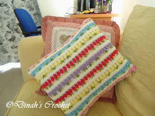Sarung Bantal Cushion Cover Pattern 021 dinah crochet pillow cushion cover