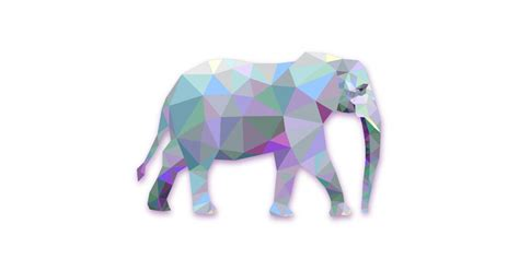modern elephant illustration  vector  png