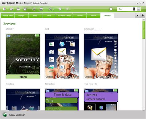 mobile themes maker sony ericsson themes creator download