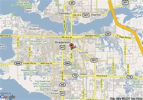 map of bradenton florida and surrounding area map of rodeway inn bradenton bradenton