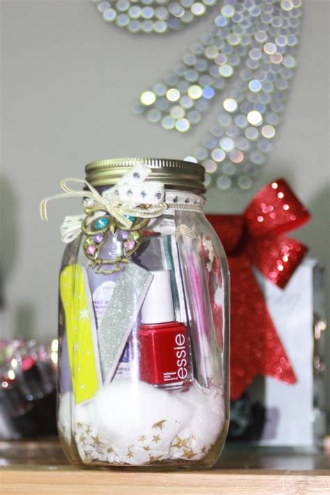 manicure mason jar holiday gift cute teacher gift
