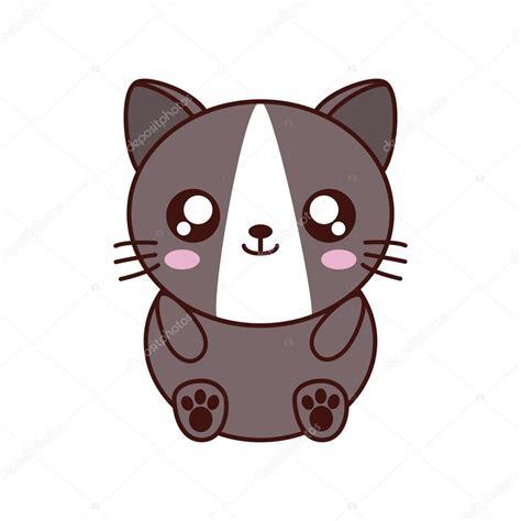 imagenes gatos kawai 237 cone animal bonito de gato kawaii vetores de stock
