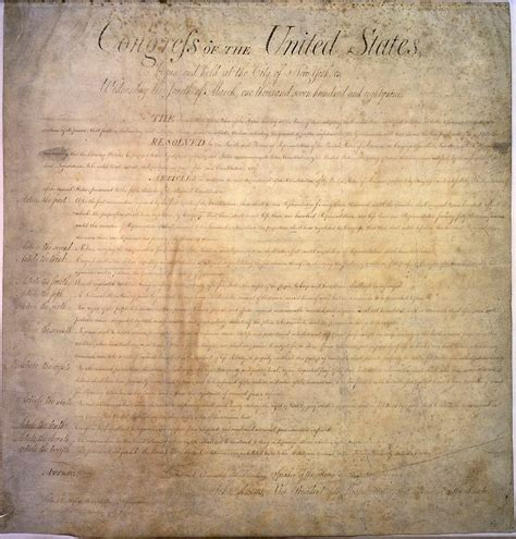 what section of the constitution is the bill of rights first federal congress amendments to the constitution