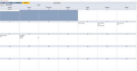 Calendar Scheduling Database Template Calendar Database Microsoft Access Calendar Template
