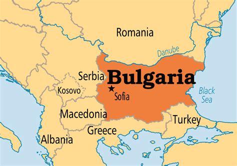 map  bulgaria  surrounding countries  travel