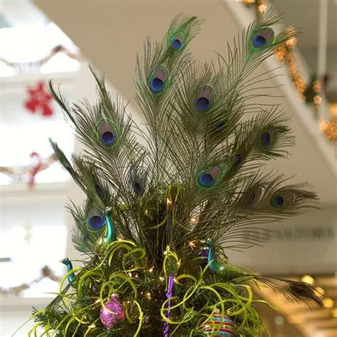 peacock feather christmas tree topper christmas ideas