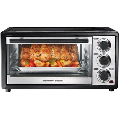 A Toaster Oven Hamilton 6 Slice Toaster Oven Black And Stainless