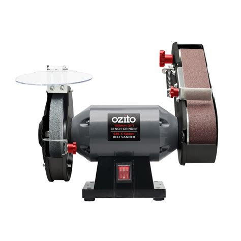 bench belt grinder ozito 240w bench grinder and belt sander bunnings warehouse
