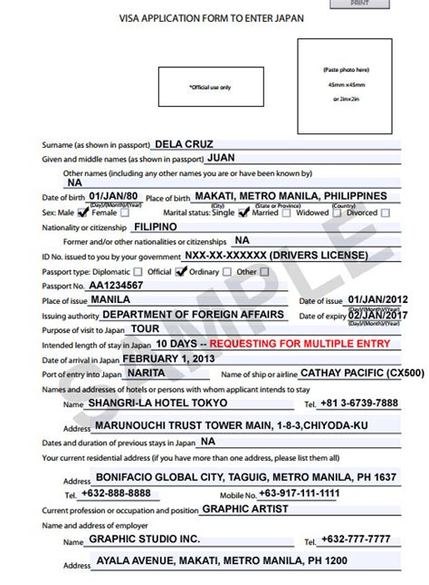 Letter Of Support For Visa Japan The Travel Junkie How To Apply For Entry Japan Tourist Visa For Filipinos