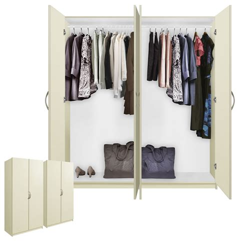 Free Standing Wardrobes by Alta 4 Door Wardrobe Closet Basic Package Free Standing